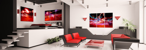 Living Room Wall Design #17  artwork