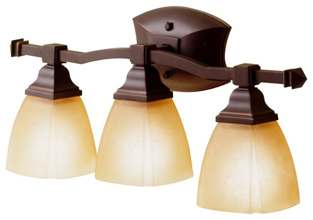 Country Cottage Sunset Bronze Backbar 22 Wide Bathroom Light Fixture Traditional Bathroom
