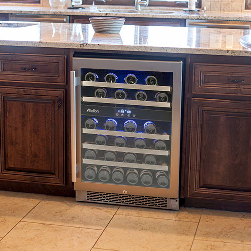 Avallon 46 Bottle Dual Zone Built-In Wine Cooler - Beer And Wine Refrigerators - by ...