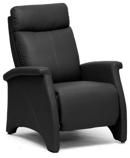Baxton Studio Sequim Black Modern Recliner Club Chair contemporary-accent-chairs
