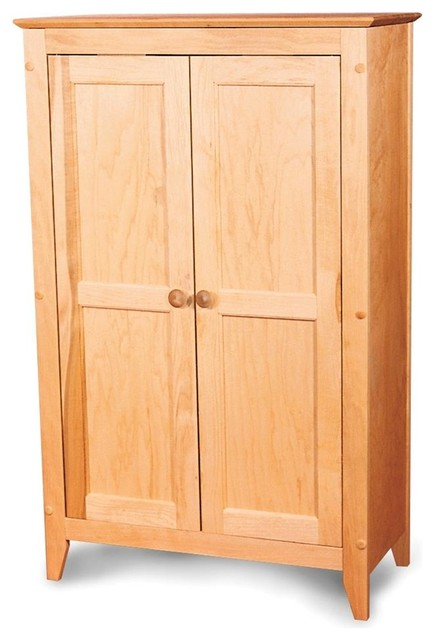 Kitchen Storage Cabinet w 2 Flat Panel Doors - Contemporary - Pantry Cabinets - by ShopLadder