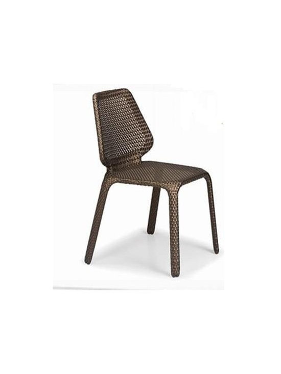 Dahi Patio Dining Chair - Add a stylish and stackable compliment with this Dahi Patio Dining Chair.