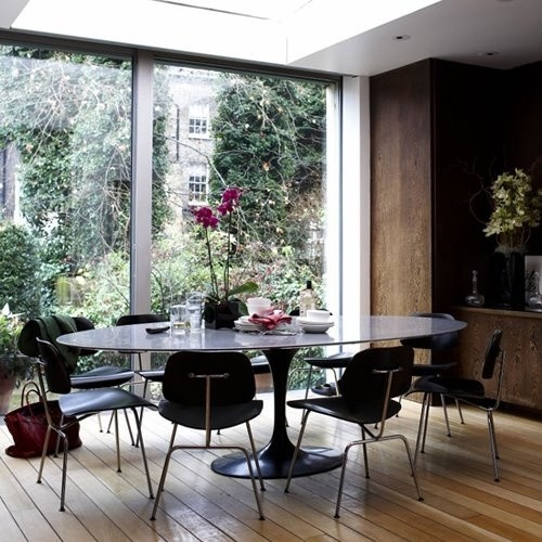 Eero Saarinen Oval Tulip Table - Black Lacquer by Rove Concepts modern ...