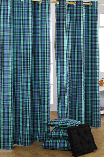 Black And Blue Plaid Curtains - Best Curtains 2017