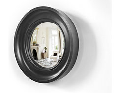Cavetto 01 in waxed black contemporary mirrors
