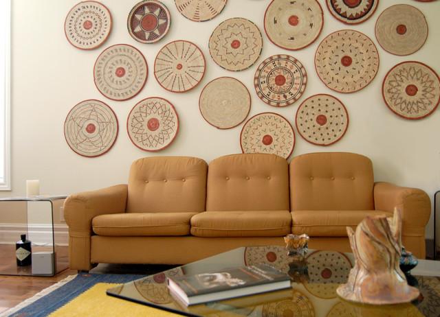Decorative Woven Plates As Wall Art (Flat Baskets