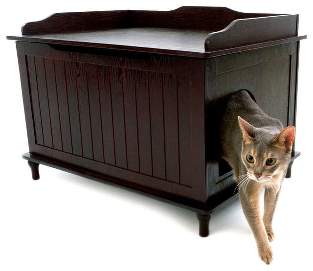 Designer catbox litter box enclosure traditional litter boxes and covers by designer pet - Modern kitty litter box ...
