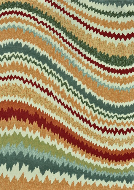 Enzo Spice Outdoor Hand Hooked Rug contemporary-rugs