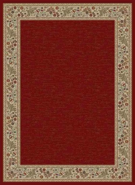 "Tayse Sensation 4740 Red 7 10"" x 10 3"" Rug farmhouse area rugs"