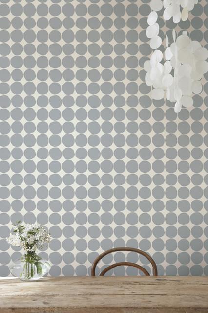 Pienet Kivet Gray Wallpaper from Marimekko modern-wallpaper