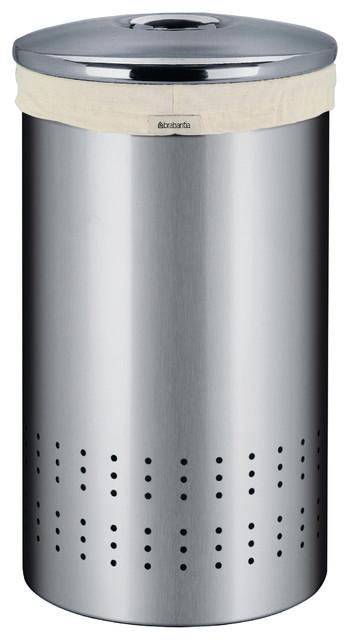 Brabantia Laundry Bin, Matte Steel modern-hampers