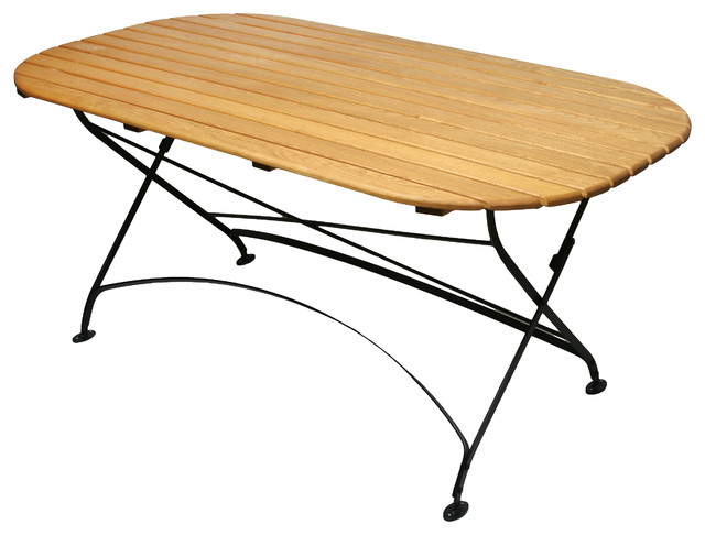 Rebecca Oval Table, With Hole traditional-outdoor-dining-tables