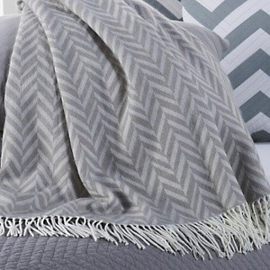 Adler Pool Tables Happy Chic by Jonathan Adler Chevron Throw with Fringe - Modern ...