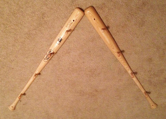 Baseball Bat Peg Hat Rack by California Chic by Jacquie K - Eclectic ...