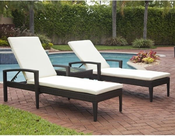 Carribbean Outdoor Wicker Chaise  outdoor chaise lounges