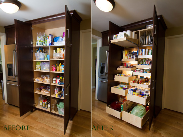Custom pantry pull out shelving system seattle by for Best pantry shelving system