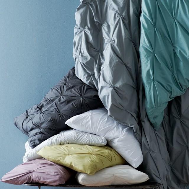 Organic Cotton Pintuck Duvet Cover + Shams contemporary-duvet-covers-and-duvet-sets
