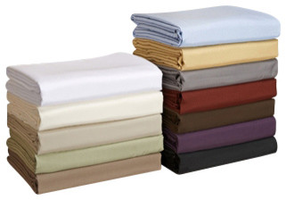 Solid Duvet Set-Microfiber, Burgundy, Twin/Twin Xl traditional-duvet-covers-and-duvet-sets