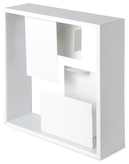 White Enameled Metal Table Lamp modern-table-lamps