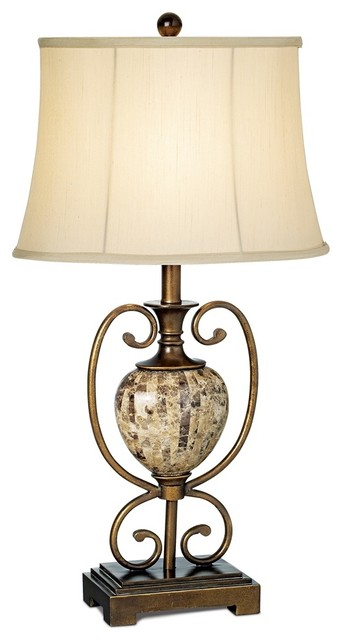 Traditional Colonial Riviere Faux Marble Table Lamp