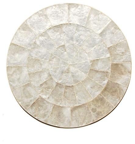 Kim Seybert Flat Capiz Place Mat contemporary-placemats