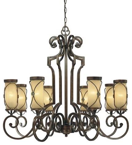 Atterbury Deep Flax Bronze Eight-Light Chandelier traditional-chandeliers