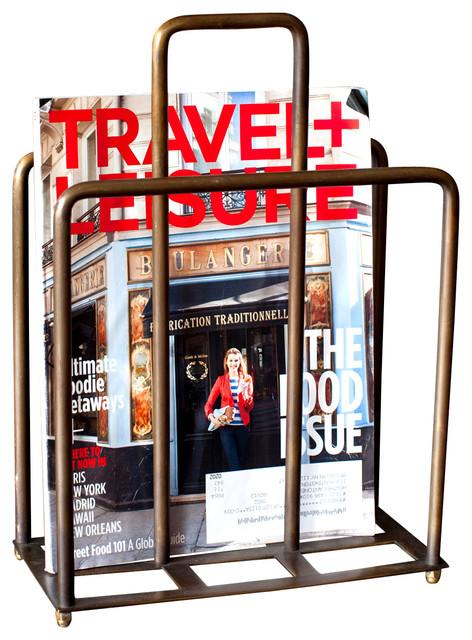 Magazine holder traditional magazine racks by bobo for Houzz magazine