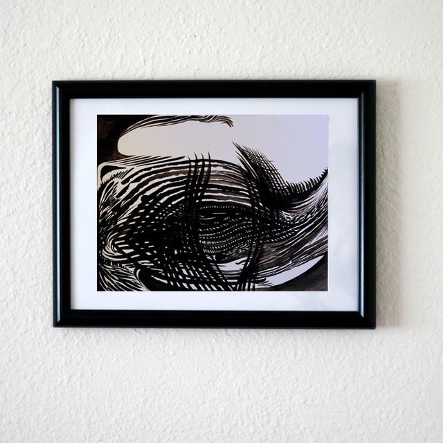 "Original Abstract Painting 9x12 ""Fingerprint"" Pretty Happy Decor Art Decor modern-artwork"