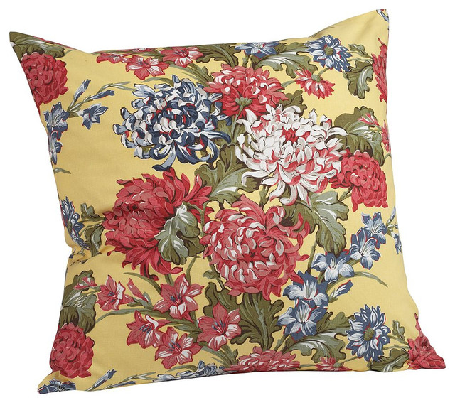 Vintage Floral Pillow Cover - Traditional - Decorative Pillows - by Pottery Barn