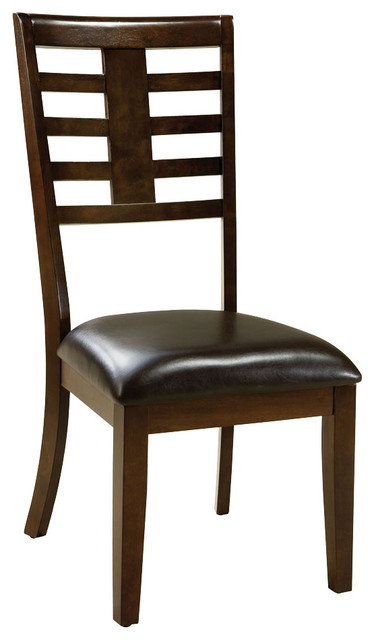 Standard Furniture Bella Side Chair in Walnut (Set of 2) traditional-dining-chairs