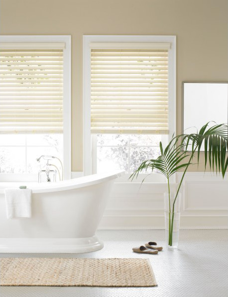 Real Simple Faux Wood Window Blind contemporary-window-blinds