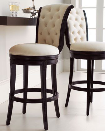 Monohan Tufted Barstool traditional bar stools and counter stools