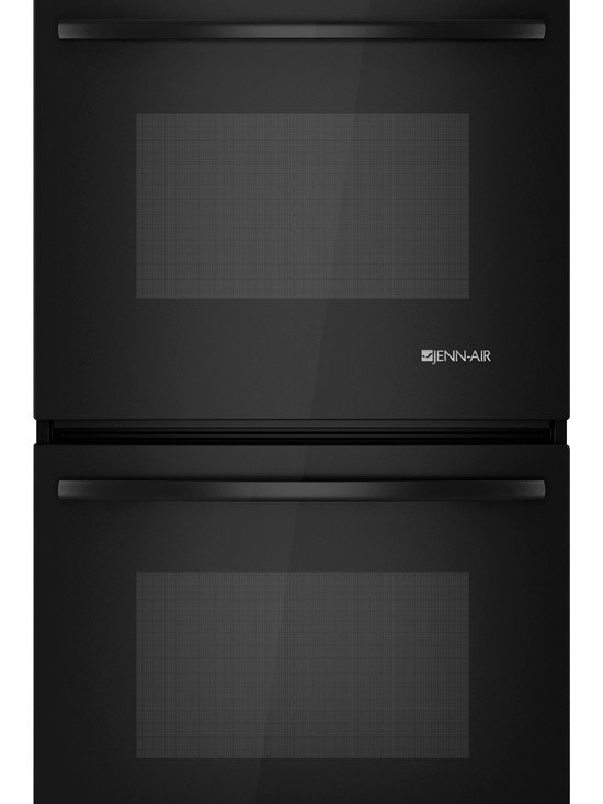 """Jenn-Air 27"""" Double Electric Wall Oven, Black On Black 