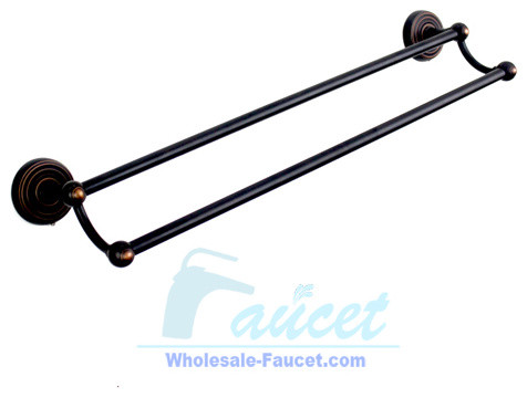 "24"" Oil Rubbed Bronze DualTowel Bar traditional-towel-bars-and-hooks"