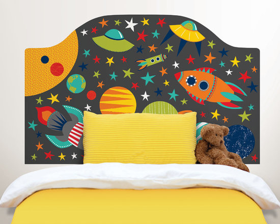 Headboards - Bring a finished look to your child's room with this peel and stick headboard decal, perfect for the child who loves space!