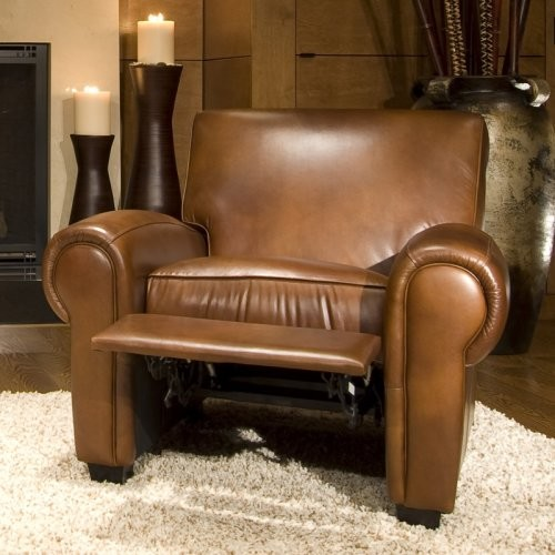 Taylor 2-Piece Set Top Grain Leather Reclining Chairs in Rustic traditional-accent-chairs