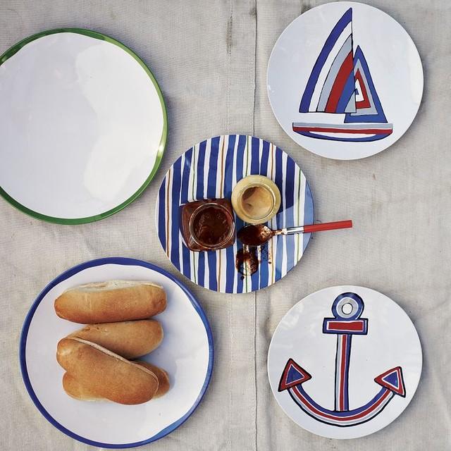 Schooner Melamine Plates eclectic-dinner-plates