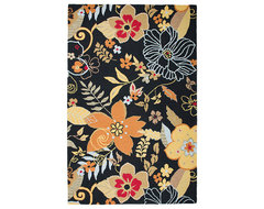 Rizzy Home Black Whimsy Area Rug contemporary-rugs