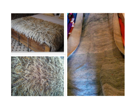 carpets from morocco - handira blanket shaggy wool . thr shaggy bed throw is actually a ceromonial  blanket in a berber wedding . super special long shaggy are  rare .