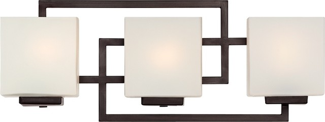 Lighting On The Square Bronze 21 Quot Wide Bath Wall Light