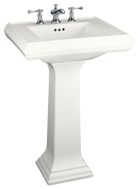 Kohler Memoirs White Fire Clay Complete Pedestal Sink | Lowes traditional bathroom vanities and sink consoles