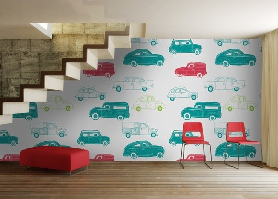 Comwallpaper For Kids Rooms : Kids Room Car Wallpaper - Modern - Kids Decor - other metro - by ...