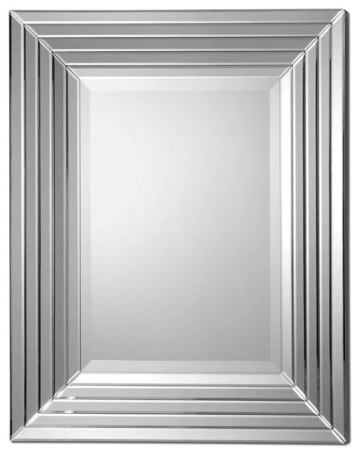 Uttermost ikona stair stepped mirror contemporary mirrors