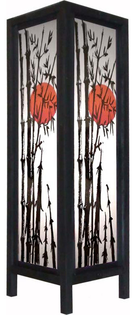 """Large 20"""" Red Dawn Lamp asian-table-lamps"""