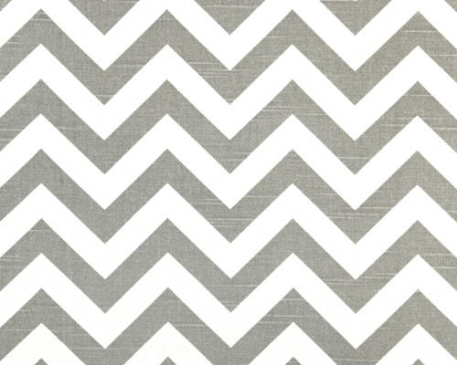 Zig Zag Ash/White Slub modern fabric
