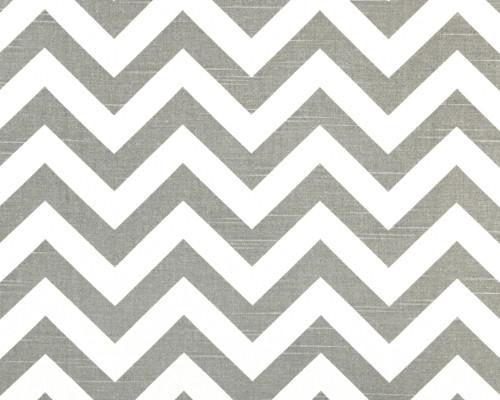 Zig Zag Ash/White Slub modern-fabric