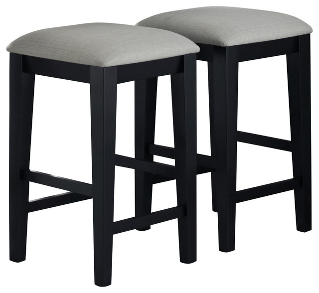 Monarch Specialties 1920 Black Grain Barstool with Grey  : traditional bar stools and counter stools from www.houzz.com size 640 x 588 jpeg 47kB