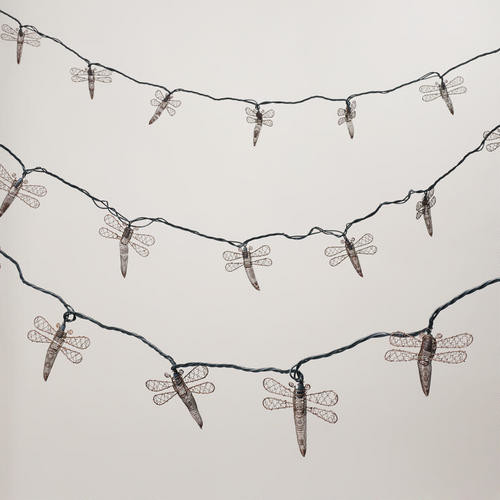 Copper Dragonfly 10-bulb String Lights - Contemporary - Outdoor Rope And String Lights - by Cost ...