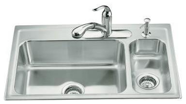 Kitchen Sinks Denver : Basin Kohler Kitchen Sink - Traditional - Kitchen Sinks - denver ...