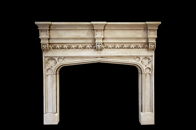 The tudor a mantel tartaruga design traditional for Tudor style fireplace